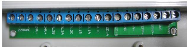 单通道分体型接线端子示意图
